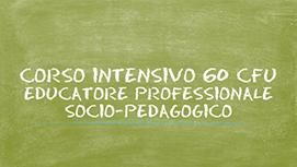 Corso intensivo di formazione per la qualifica di Educatore Professionale socio-pedagogico